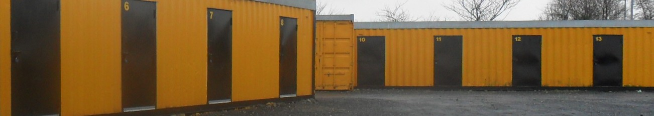 Some of the smalle 10 foot storage units in Bangor Self Storage